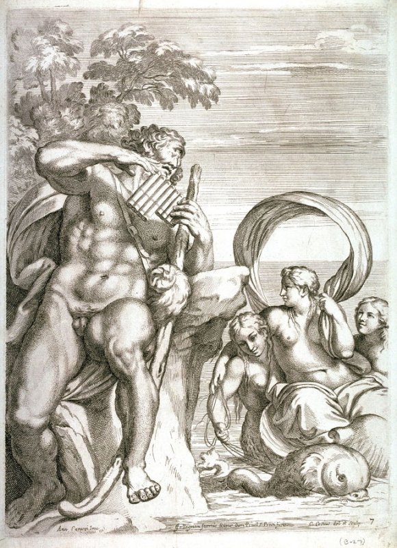 Polyphemus and Galatea,after Annibale Carracci, pl.7 from the series The Farnese Gallery
