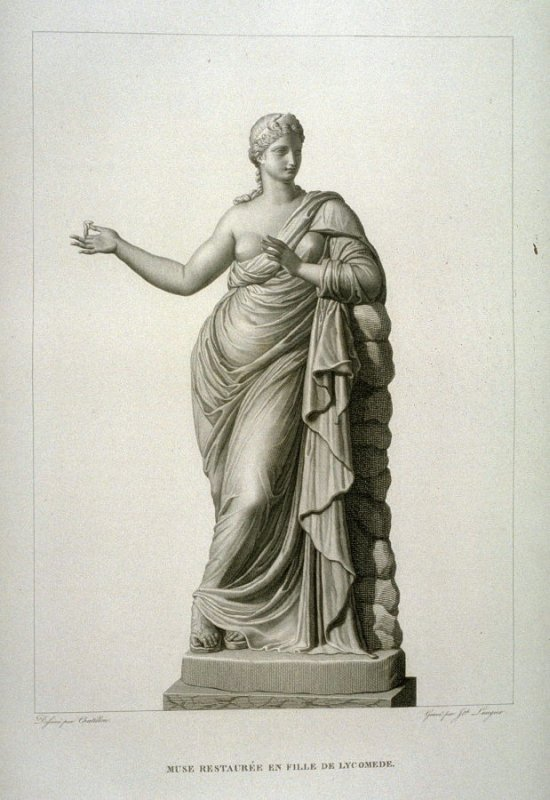 Muse Restauree en Fille de Lycomede... Le Musée royal (Paris: P. Didot, l'ainé, 1818), vol. 2