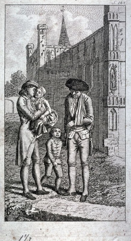 [Two men and two children]