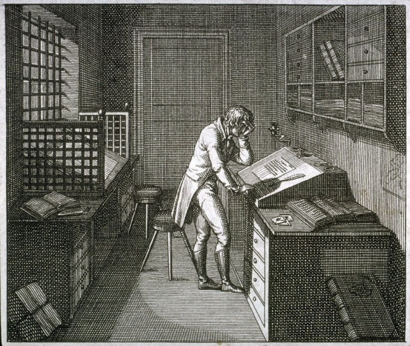 [Man in his study]