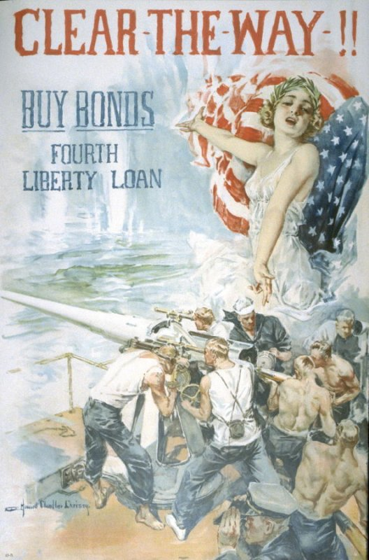 Clear The Way! - World War I poster