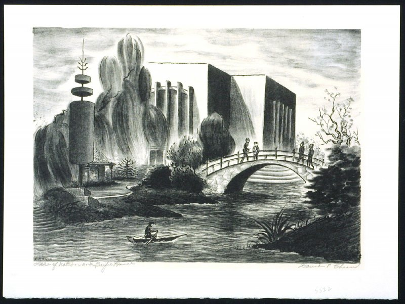 Lake of Nation and the Pacific House (Golden Gate International Exposition)