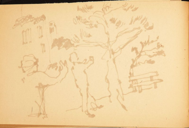 Illustration 3 in the book Out of a T'ai Chi Notebook: Observations of the spirit in words and drawings (sketchbook)