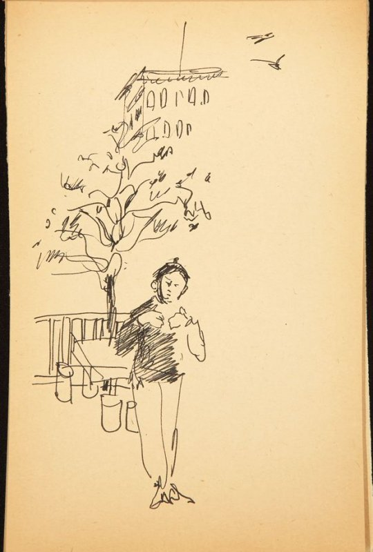 Illustration 6 in the book Out of a T'ai Chi Notebook: Observations of the spirit in words and drawings (sketchbook)