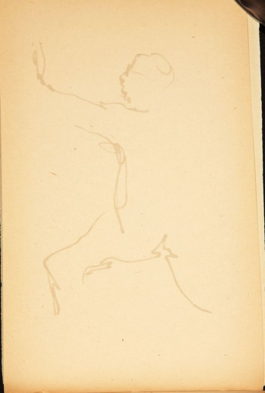 Illustration 7 in the book Out of a T'ai Chi Notebook: Observations of the spirit in words and drawings (sketchbook)
