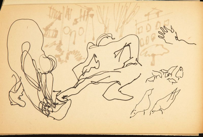 Illustration 11 in the book Out of a T'ai Chi Notebook: Observations of the spirit in words and drawings (sketchbook)