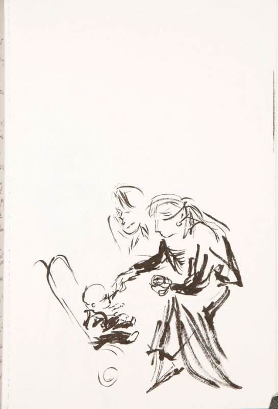 Untitled (Couple with baby), Illustration 4 in the book Sketchbook (Cité des Arts)