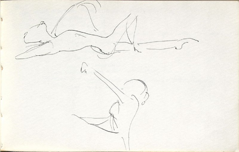 Untitled (Dancers), Illustration 3 in the book Sketchbook (Mary Anthony, Brooklyn College)