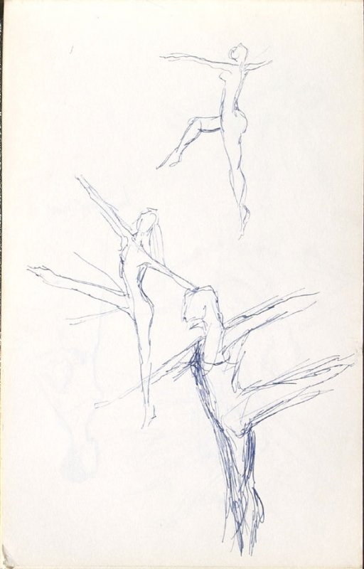 Untitled (Dancers), Illustration 6 in the book Sketchbook (Mary Anthony, Brooklyn College)