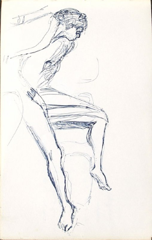 Untitled (Reclining figure), Illustration 17 in the book Sketchbook (Mary Anthony, Brooklyn College)