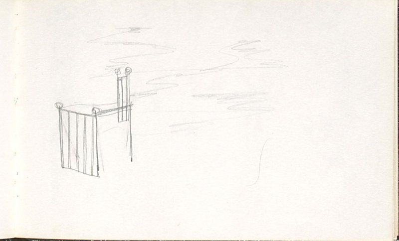 Untitled (Set design elements), Illustration 21 in the book Sketchbook (Mary Anthony, Brooklyn College)