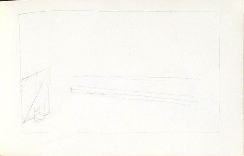Untitled (Chair), Illustration 30 in the book Sketchbook (Mary Anthony, Brooklyn College)