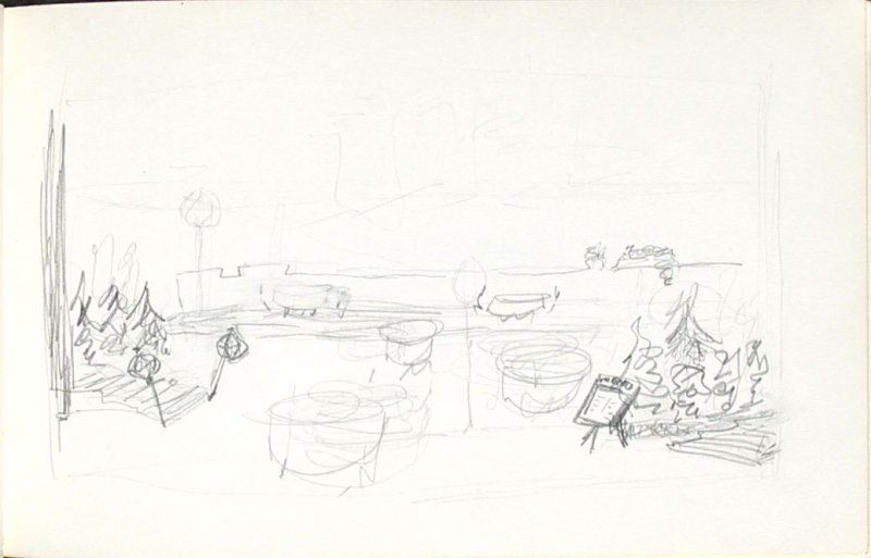 Untitled (Set design), Illustration 31 in the book Sketchbook (Mary Anthony, Brooklyn College)