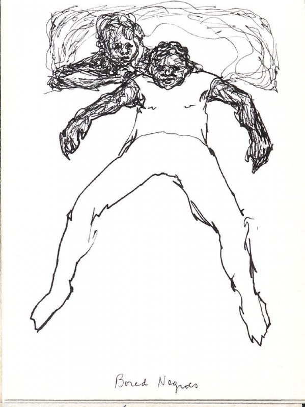"""""""Bored Negroes,"""" Illustration 16 in the book Sketchbook (Music)"""