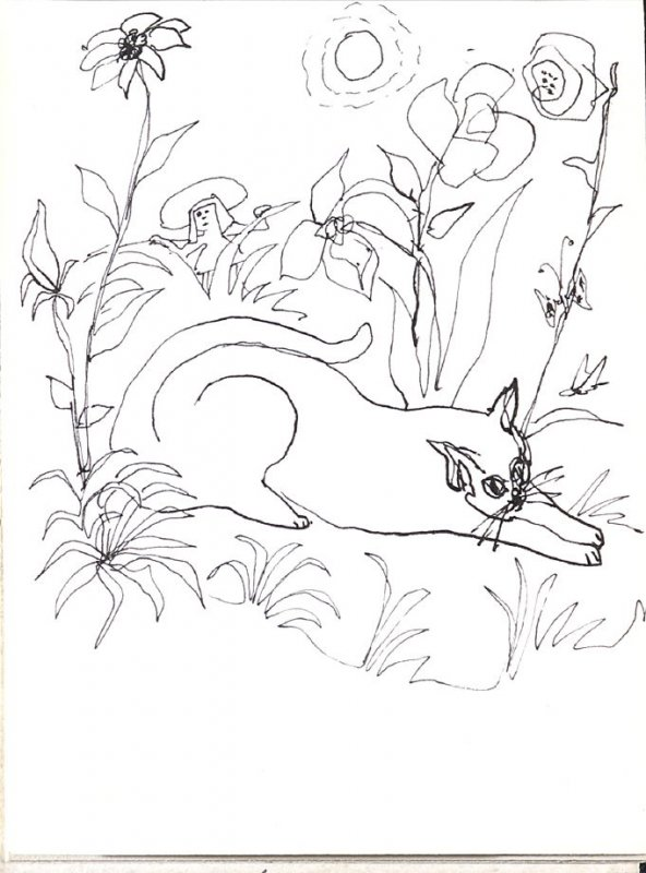 Untitled (Cat), Illustration 17 in the book Sketchbook (Music)