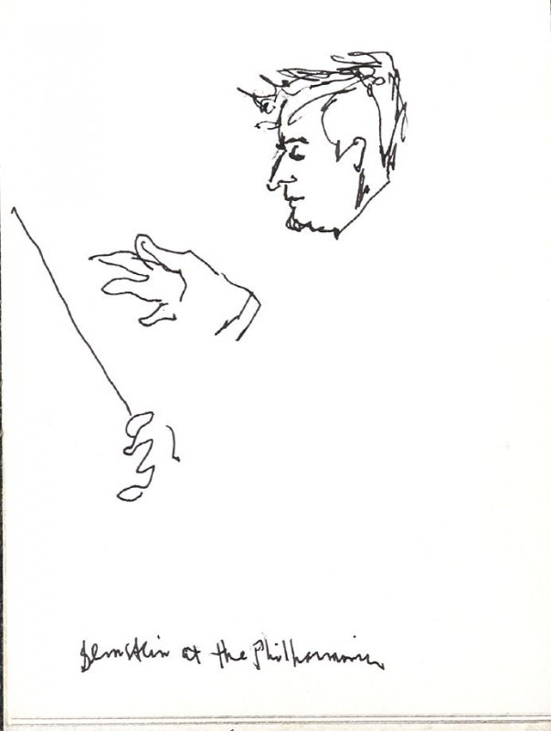 Bernstein at the Philharmonic, Illustration 21 in the book Sketchbook (Music)