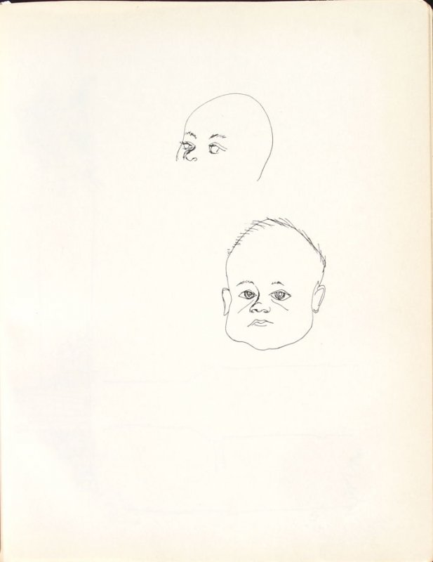 Untitled (Baby), Illustration 4 in the book Sketchbook (Washington and New York)