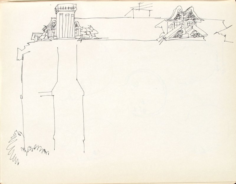 Untitled (Roof), Illustration 5 in the book Sketchbook (Washington and New York)