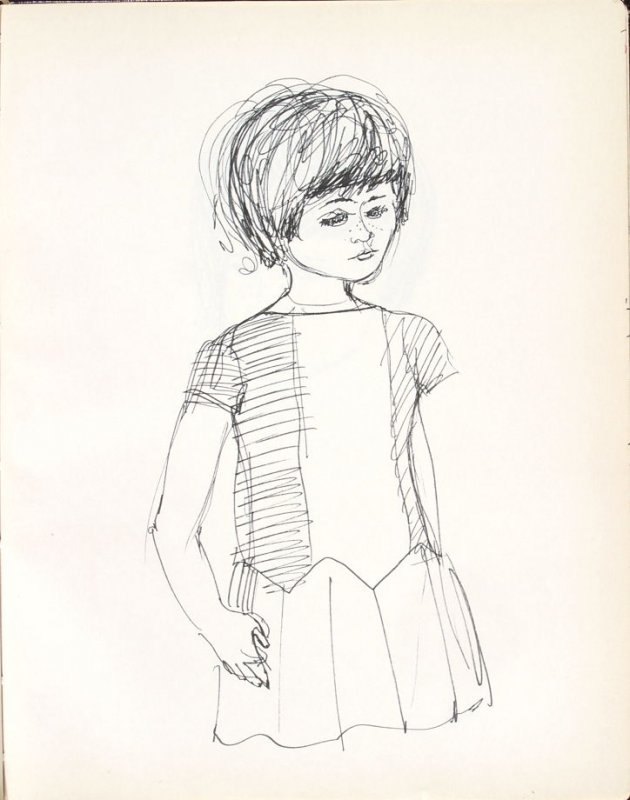 Untitled (Girl), Illustration 36 in the book Sketchbook (Washington and New York)