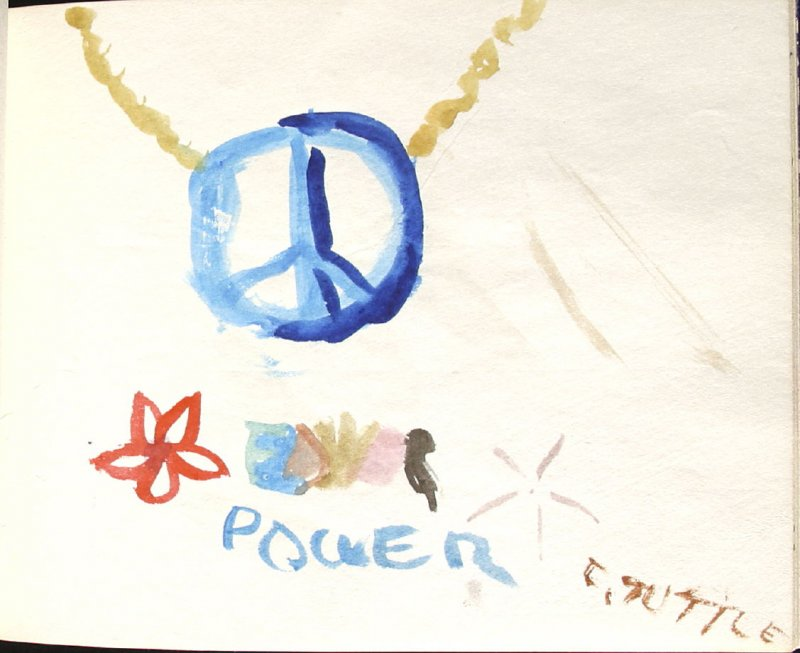 Flower Power, By Cindy Tuttle, Illustration 14 in the book Sketchbook (Denver and Salinas)