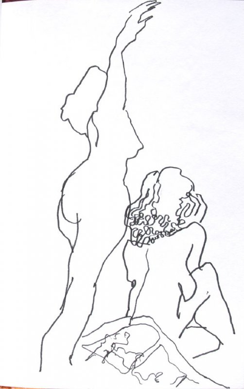 Untitled (Two nudes), Illustration 51 in the book Sketchbook (Honeymoon)