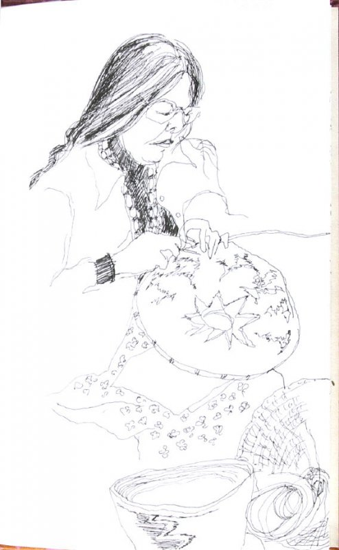 Untitled (Native woman), Illustration 66 in the book Sketchbook (Honeymoon)