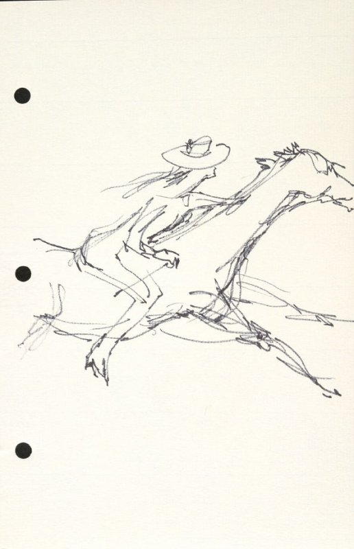 Untitled (Cowgirl), Illustration 13 in the book Sketchbook (National Finals Rodeo)
