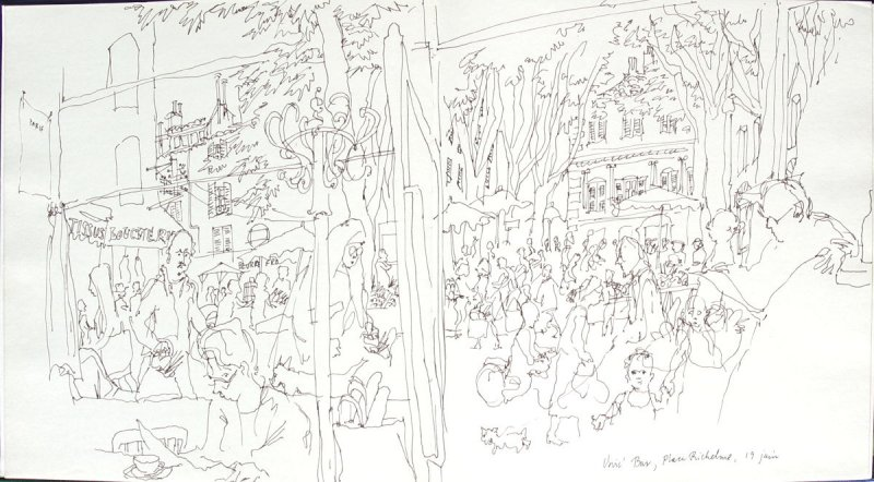 Unic' Bar, Place Richelme, Illustration 3 in the book Sketchbook (Paris and Amsterdam)