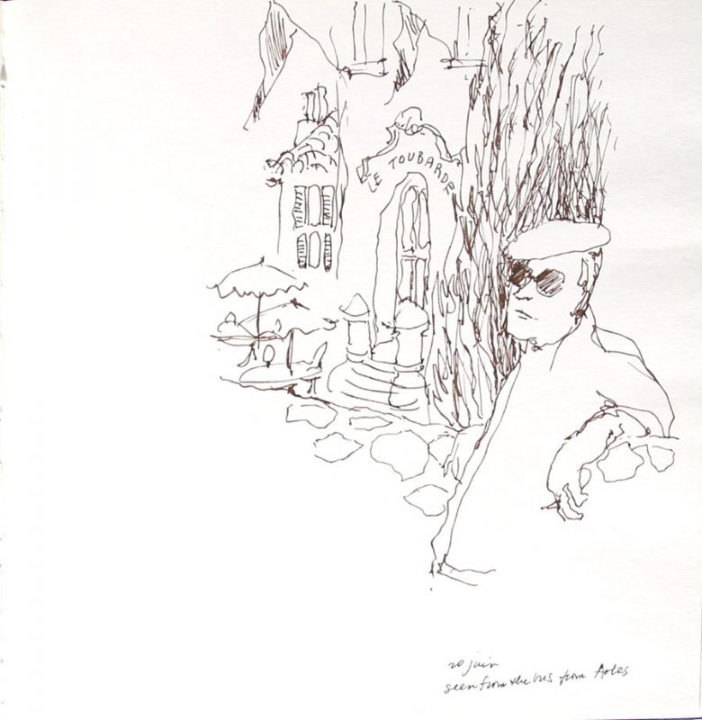 Seen From the Bus, Illustration 10 in the book Sketchbook (Paris and Amsterdam)