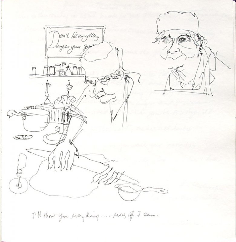 I'll Show You Everything (Portrait of Josephine Araldo), Illustration 20 in the book Sketchbook (Paris and Amsterdam)