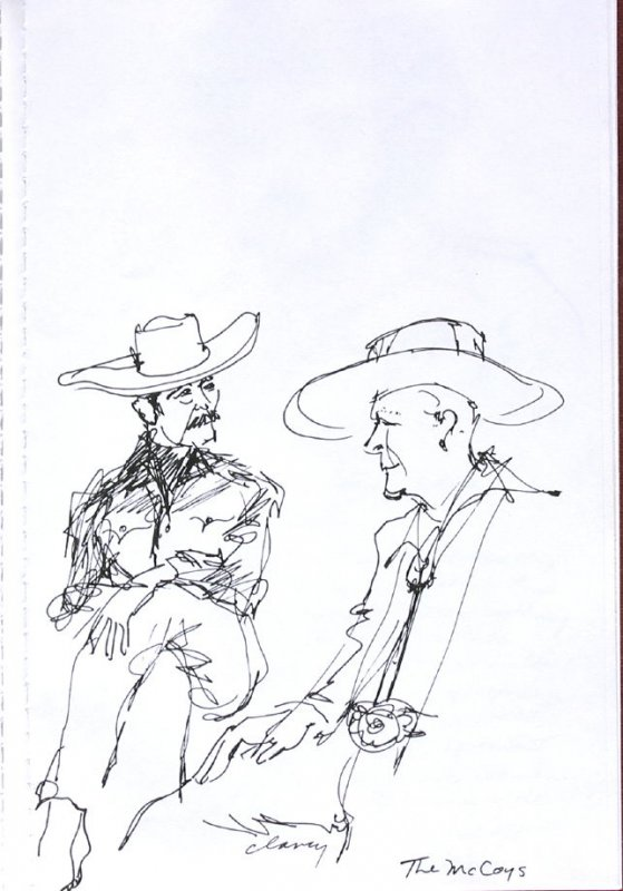 The McCoys, Illustration 20 in the book Sketchbook (Western Film Conference)