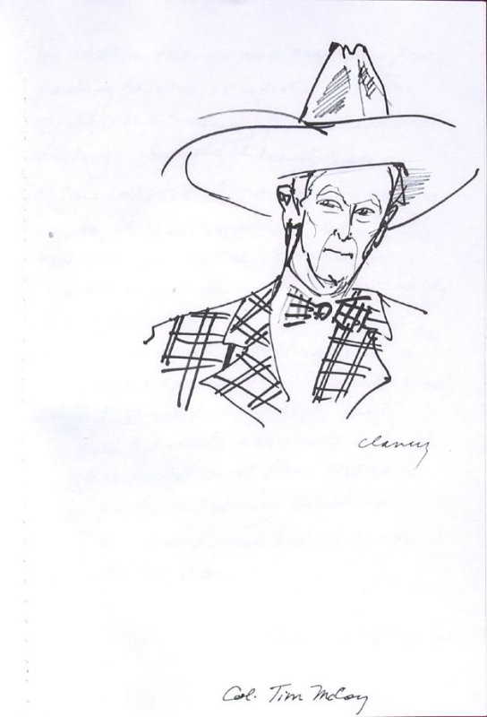 Col. Tim McCoy, Illustration 40 in the book Sketchbook (Western Film Conference)