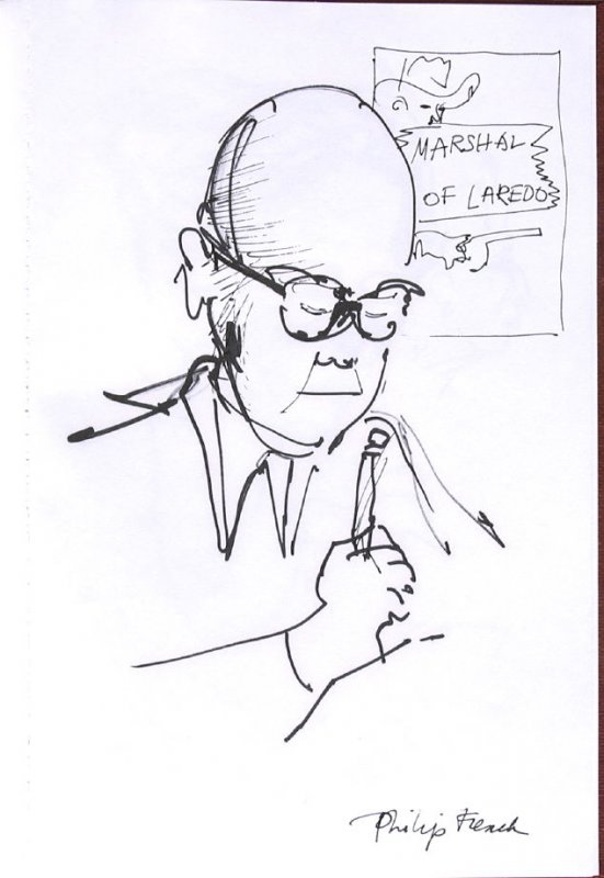 Philip French, Illustration 43 in the book Sketchbook (Western Film Conference)
