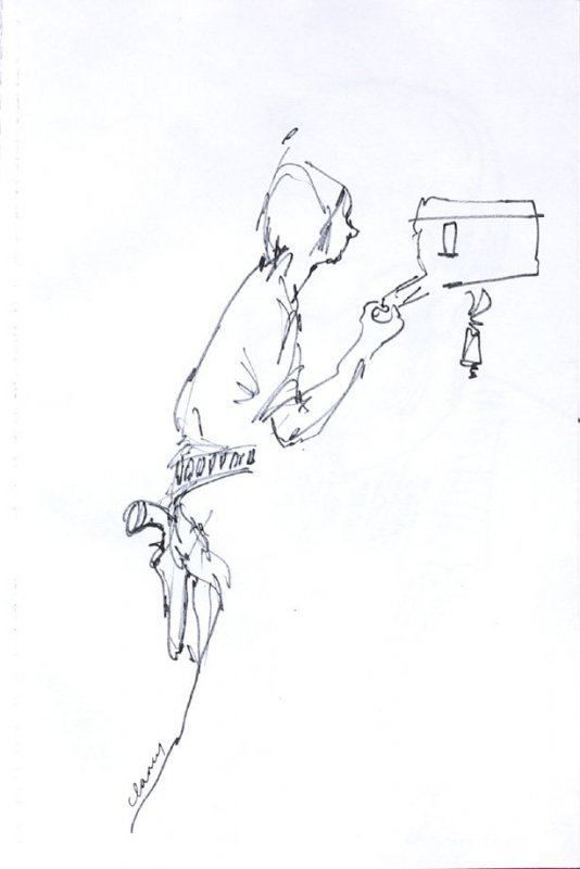 Untitled (Camera man), Illustration 51 in the book Sketchbook (Western Film Conference)