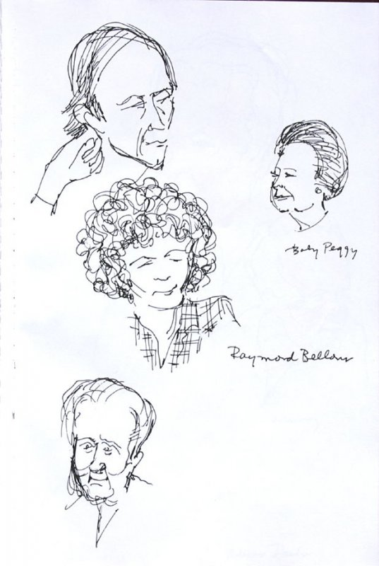 Baby Peggy and Raymond Bellows, Illustration 57 in the book Sketchbook (Western Film Conference)