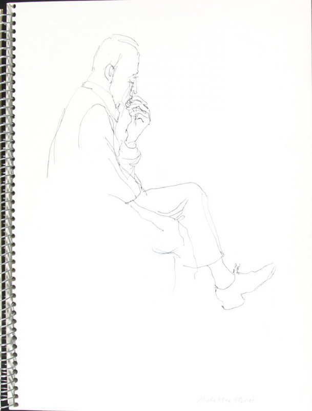 Alcoholism Clinic, Illustration 2 in the book Sketchbook (Pacific Medical Center Clinic, I)