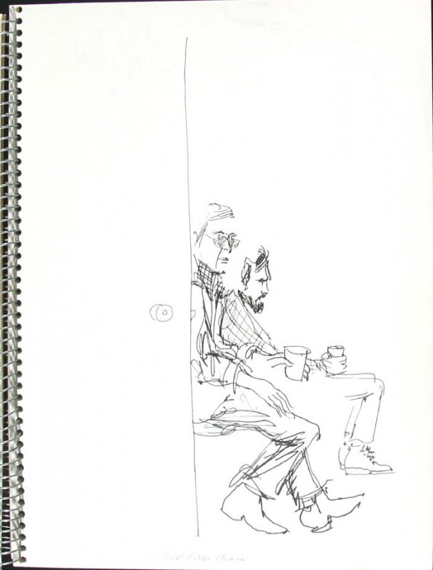 Alcoholism Clinic, Illustration 3 in the book Sketchbook (Pacific Medical Center Clinic, I)