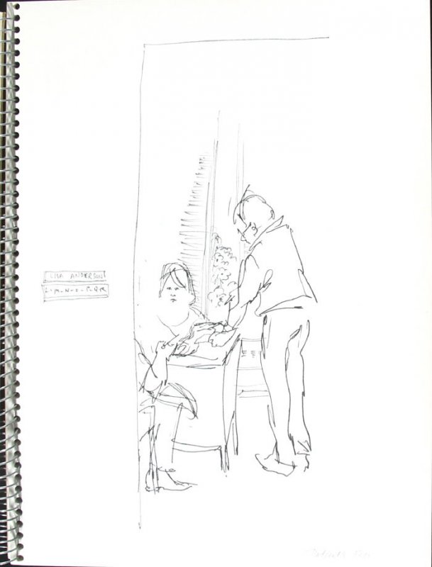 Patient's Rep, Illustration 11 in the book Sketchbook (Pacific Medical Center Clinic, I)