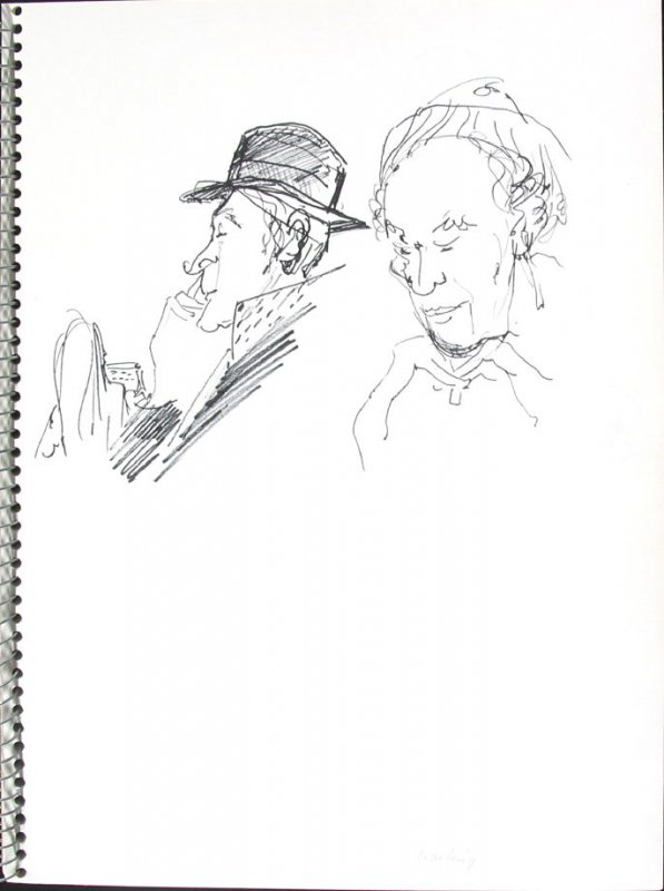 Waiting, Illustration 14 in the book Sketchbook (Pacific Medical Center Clinic, I)