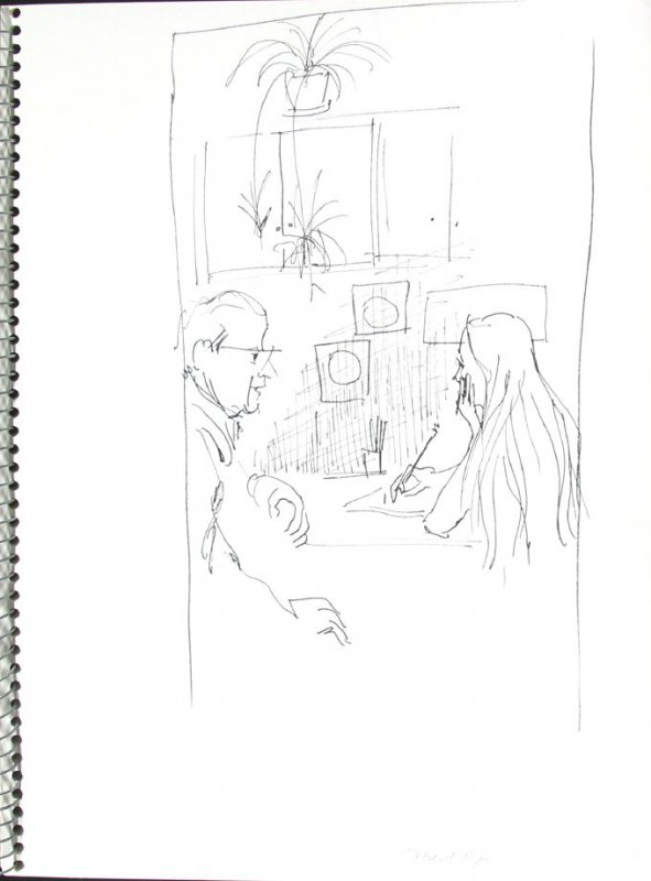 Patient Rep, Illustration 19 in the book Sketchbook (Pacific Medical Center Clinic, I)