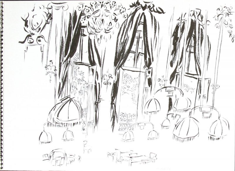 Untitled (Interior), Illustration 9 in the book Sketchbook (Trouville, III)