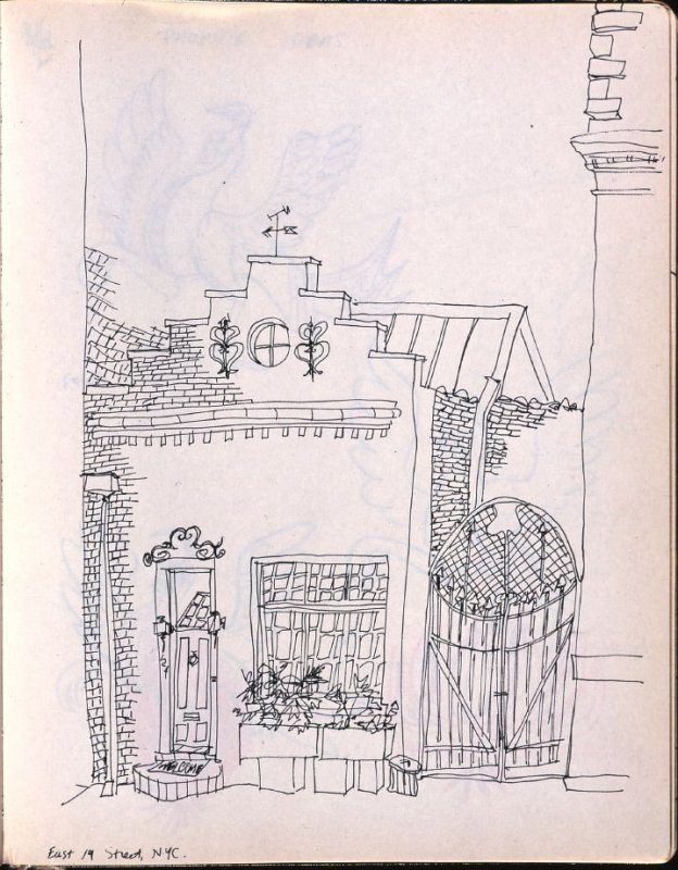 East 19th Street, New York, Illustration 11 in the book Sketchbook (Washington and New York)