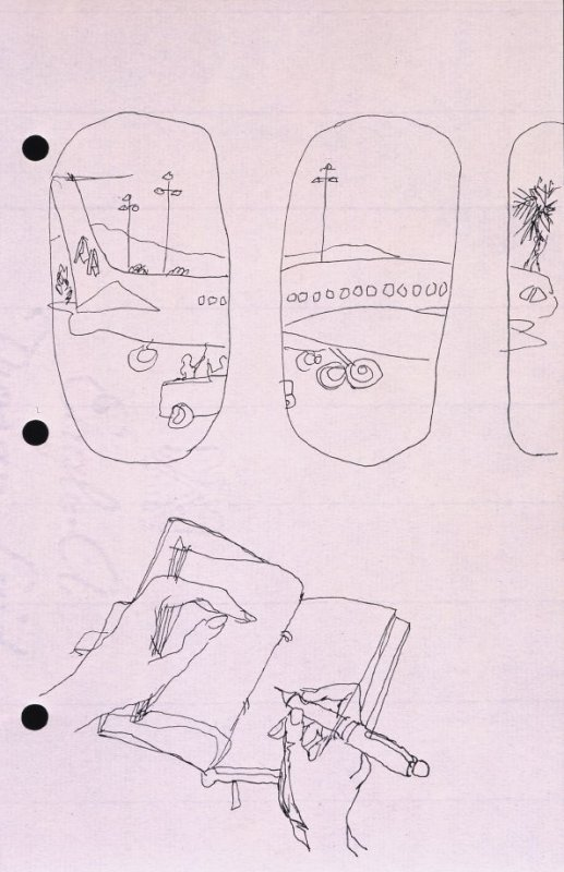 Untitled (Airplane), Illustration 18 in the book Sketchbook (National Finals Rodeo)