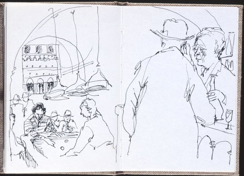 Untitled (Bar scene with pool table), Illustration 7 in the book Journal (Strasbourg and Venice)