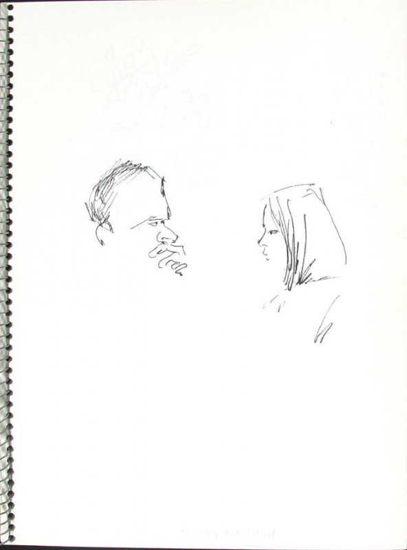 Dr. Wong and Patient, Illustration 34 in the book Sketchbook (Pacific Medical Center Clinic, I)