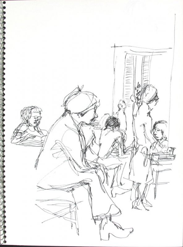 Untitled (Doctor's Office), Illustration 43 in the book Sketchbook (Pacific Medical Center Clinic, I)