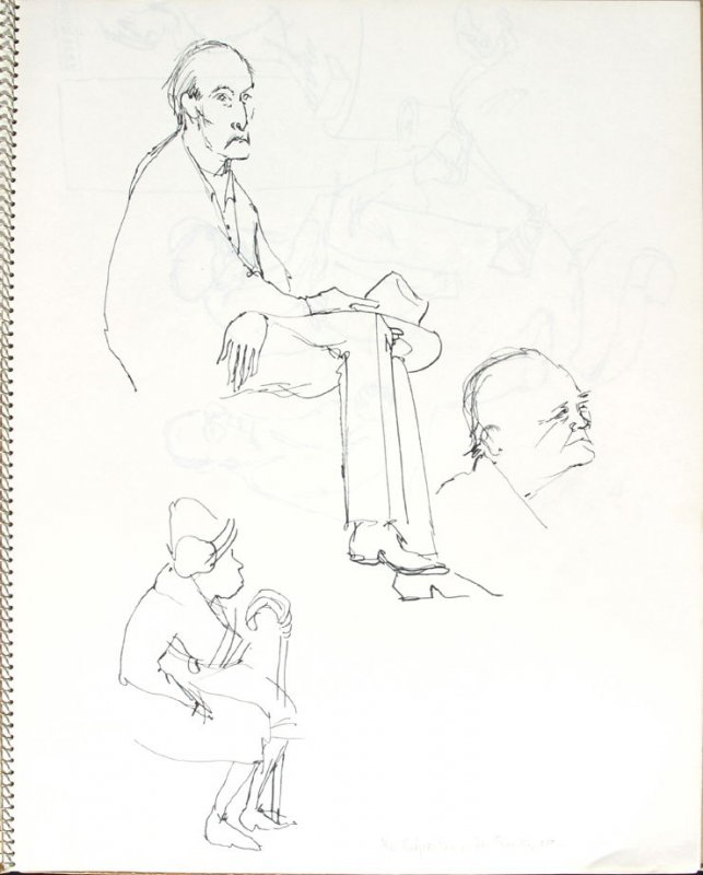 Mr. Culpertson, Mr. Smith, etc., Illustration 10 in the book Sketchbook (Pacific Medical Center Clinic, II)