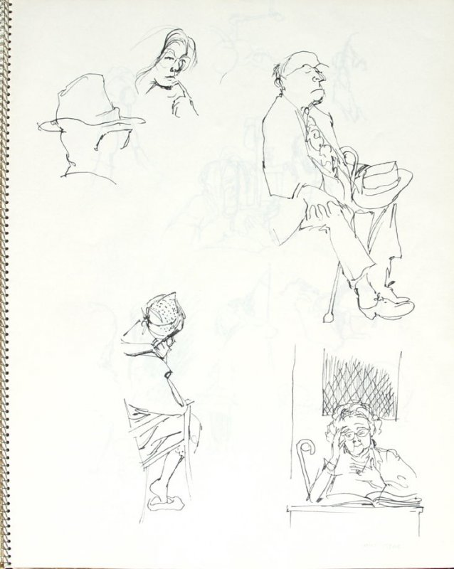 Mrs. Hyde, Illustration 15 in the book Sketchbook (Pacific Medical Center Clinic, II)