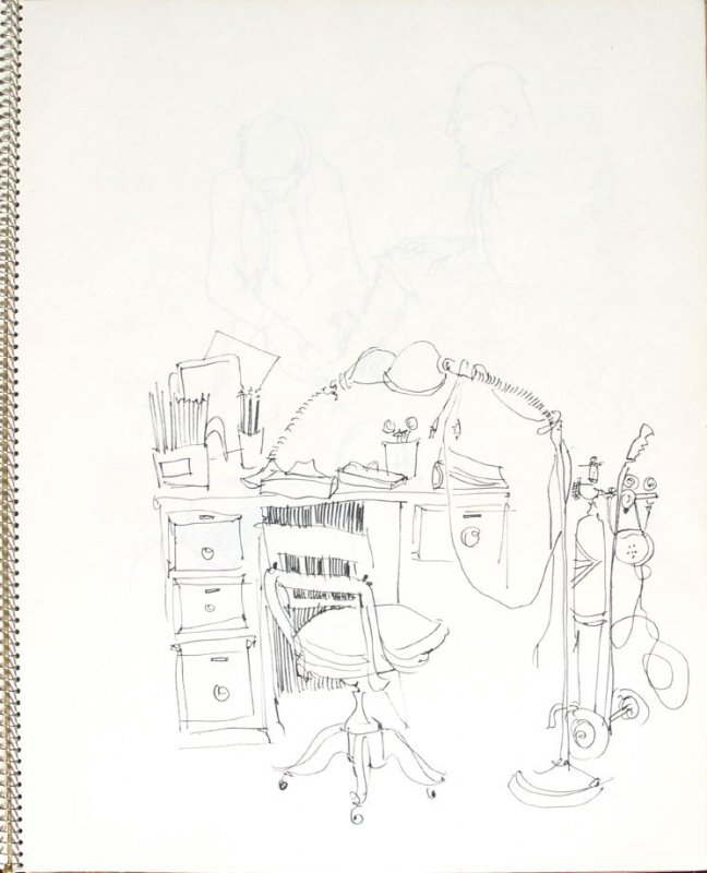 Untitled (Doctor's office), Illustration 17 in the book Sketchbook (Pacific Medical Center Clinic, II)