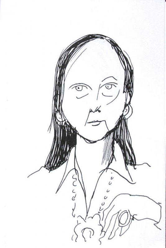 Untitled (Portrait), Illustration 29 in the book Sketchbook (Sun Valley, Idaho)